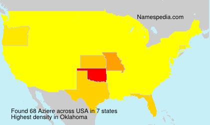 Familiennamen Aziere - USA