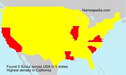 Surname Azizul in USA