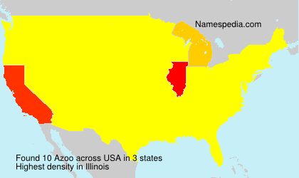 Surname Azoo in USA
