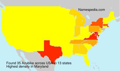 Familiennamen Azubike - USA