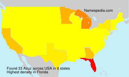 Surname Azuz in USA