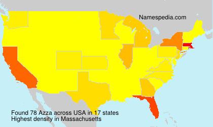 Surname Azza in USA