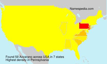 Surname Azzarano in USA