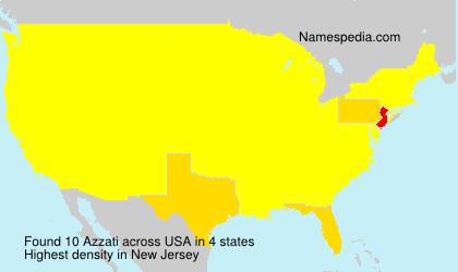 Familiennamen Azzati - USA