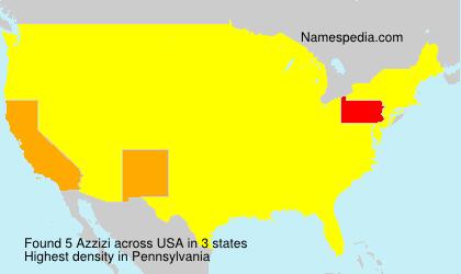 Surname Azzizi in USA