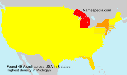 Surname Azzoli in USA