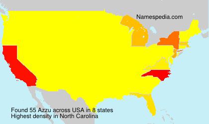 Familiennamen Azzu - USA