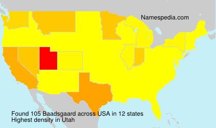 Surname Baadsgaard in USA