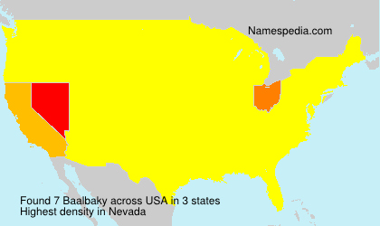 Surname Baalbaky in USA