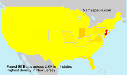 Surname Baals in USA