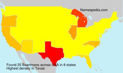 Surname Baartmans in USA