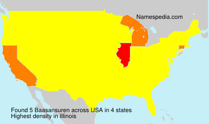 Surname Baasansuren in USA