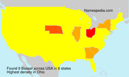 Surname Baasel in USA