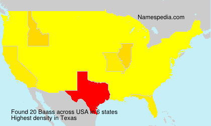 Surname Baass in USA