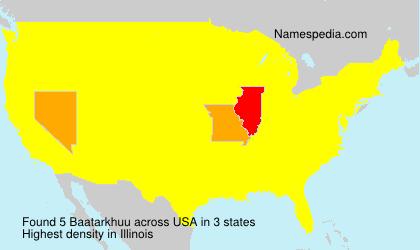 Familiennamen Baatarkhuu - USA