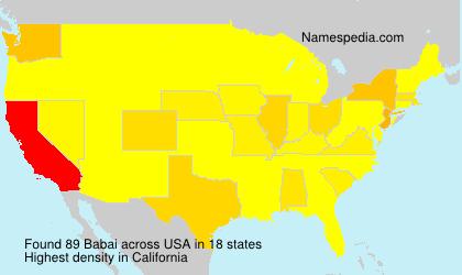 Surname Babai in USA