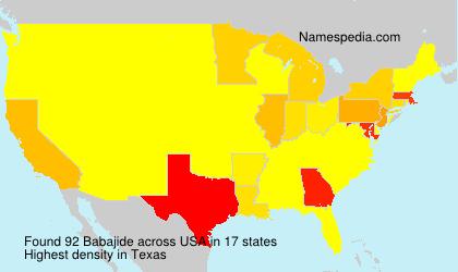 Surname Babajide in USA