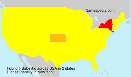 Familiennamen Babeyko - USA