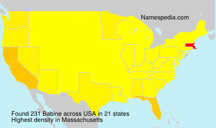 Surname Babine in USA