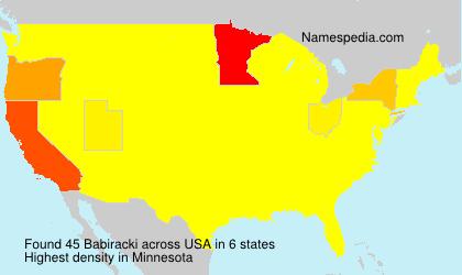 Surname Babiracki in USA