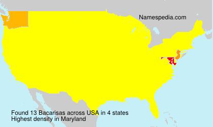 Familiennamen Bacarisas - USA