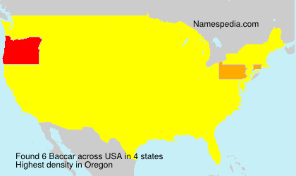 Surname Baccar in USA