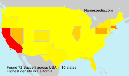 Surname Baccelli in USA