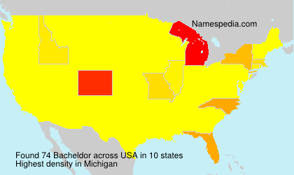 Surname Bacheldor in USA