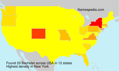 Surname Bachelet in USA