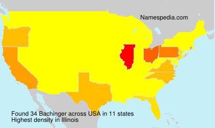 Surname Bachinger in USA