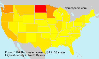 Surname Bachmeier in USA