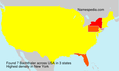 Surname Bachthaler in USA
