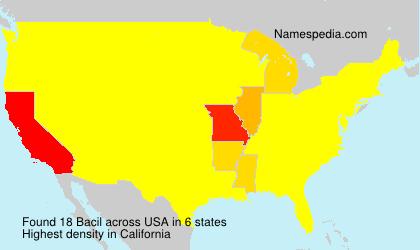 Familiennamen Bacil - USA