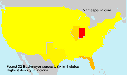 Surname Backmeyer in USA