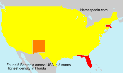 Surname Bacrania in USA