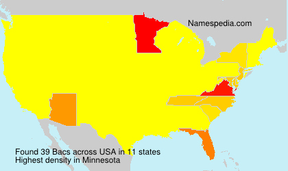 Surname Bacs in USA