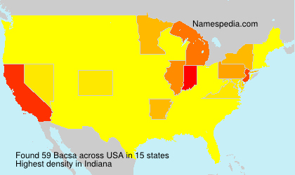 Surname Bacsa in USA