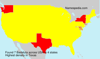 Surname Badaluta in USA