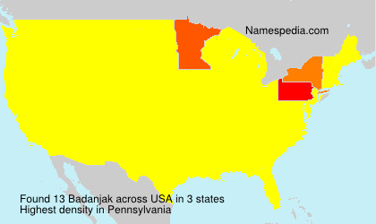Surname Badanjak in USA