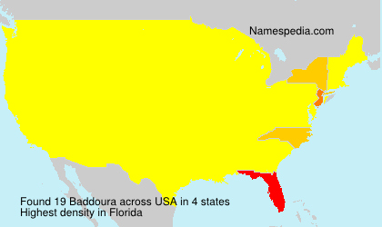 Surname Baddoura in USA
