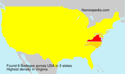 Surname Badeges in USA