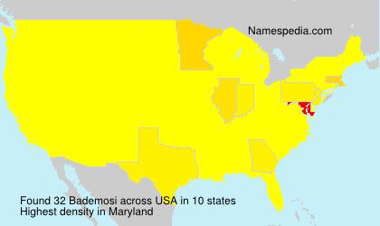 Familiennamen Bademosi - USA