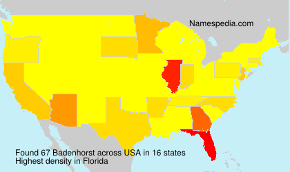 Surname Badenhorst in USA