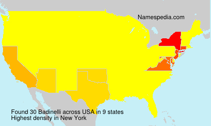 Surname Badinelli in USA