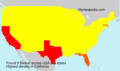Surname Baduel in USA