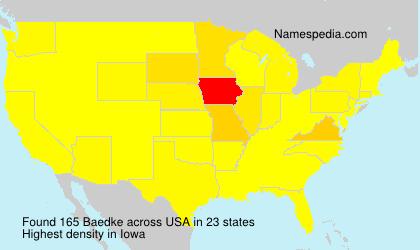 Surname Baedke in USA