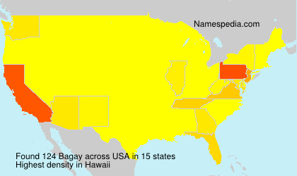 Surname Bagay in USA