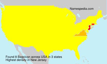 Familiennamen Bagcivan - USA