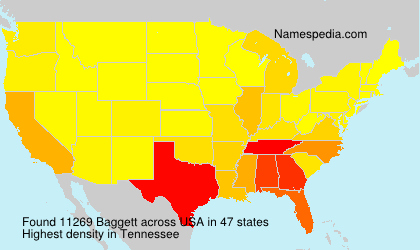 Surname Baggett in USA