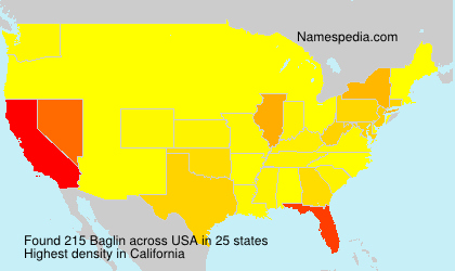 Surname Baglin in USA